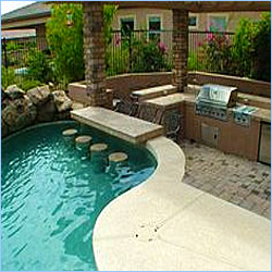Pool bars for backyard parties intheswim pool blog for Pool design with swim up bar