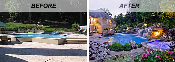 Swimming Pool Renovations Before And After InTheSwim Pool Blog Delectable Backyard Designs With Pool Remodelling