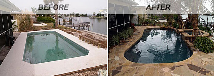 Remodel Pictures Before And After swimming pool renovations: before and after | intheswim pool blog
