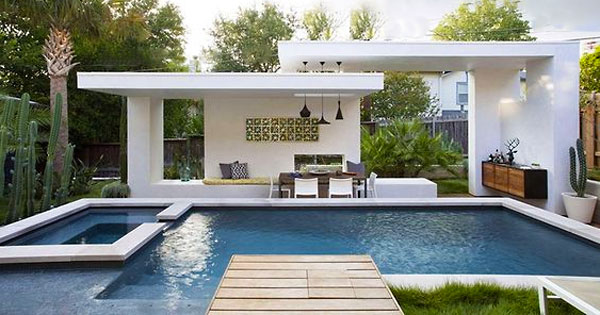 Cool swimming pool cabanas intheswim pool blog for Pool cabana designs