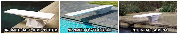 image of 3 sr smith diving board sets