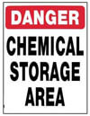 chemical storage area sign for pools
