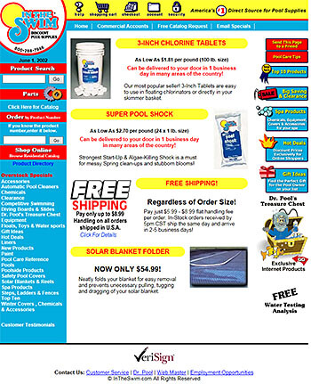 Intheswim website, 1999