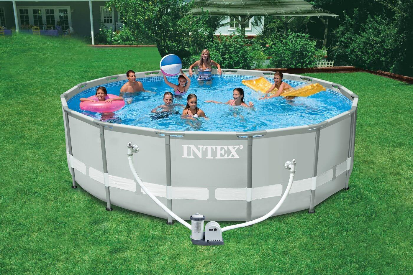 above ground pool sale just in time for the holidays we have compiled some inspiring above ground pool ideas to show how this intex ultra frame pool