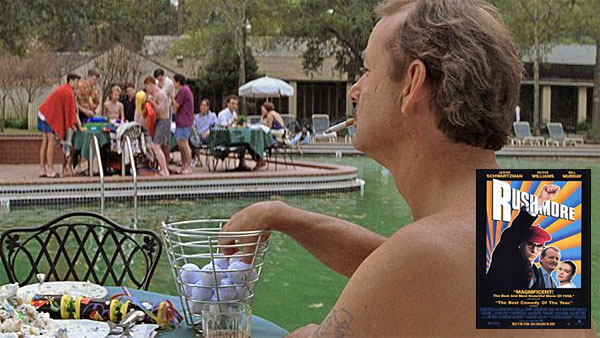 Bill Murray in Rushmore, pool scene
