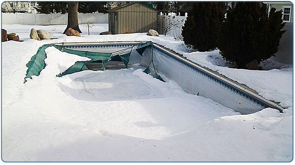 Dealing With Snow On Your Winter Pool Cover Intheswim