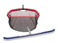 """Big pool brush 36"""", and 24"""" leaf rake net shown"""