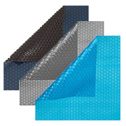 Different colors of solar pool covers