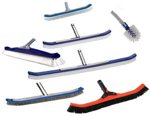 image of 7 types of pool brushes