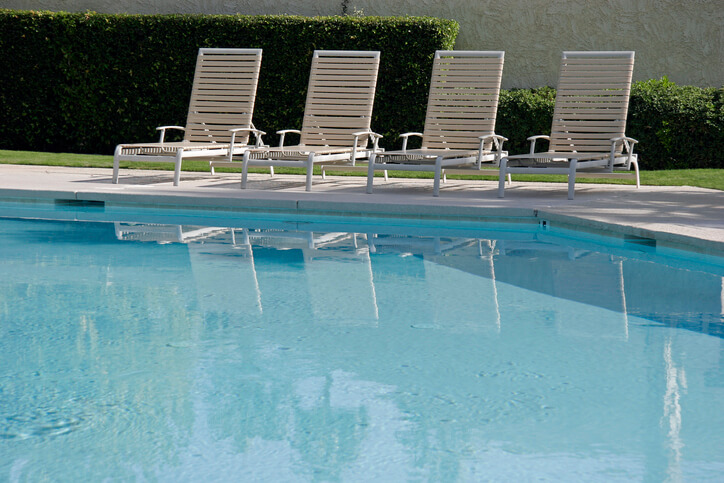 Aluminum Pool Furniture with Vinyl Straps, Classic & Timeless.