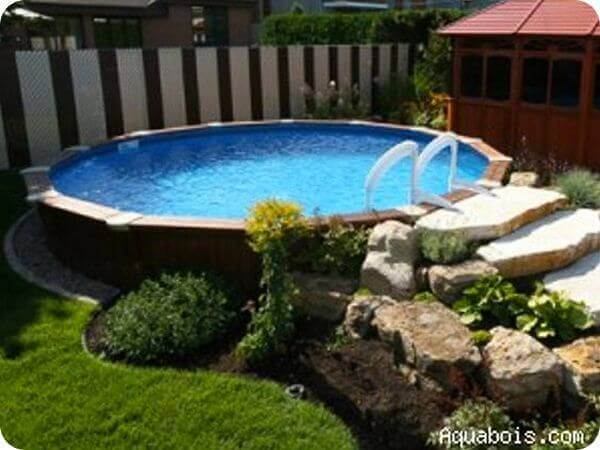 Above Ground Pool Landscape Design Ideas Youtube