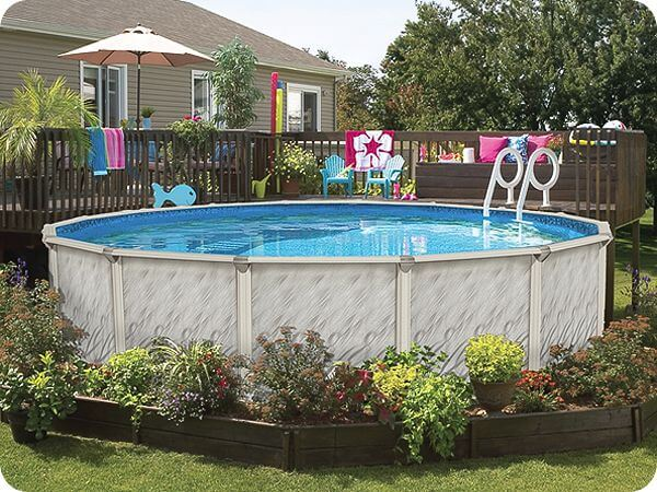 Basic Above-ground Pool Landscaping | InTheSwim Pool Blog