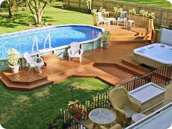 Basic Above Ground Pool Landscaping Intheswim Pool Blog