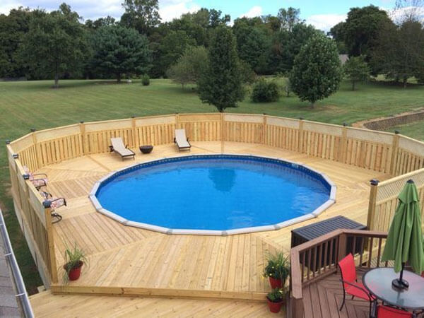 15 Awesome Above Ground Pool Deck Designs Intheswim Pool Blog