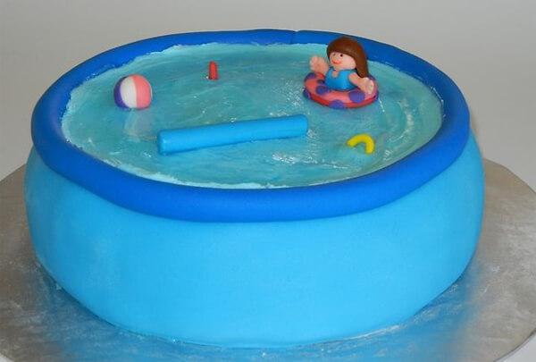 Stupendous Pool Party Cakes Swimming Pool Cakes Intheswim Pool Blog Personalised Birthday Cards Vishlily Jamesorg