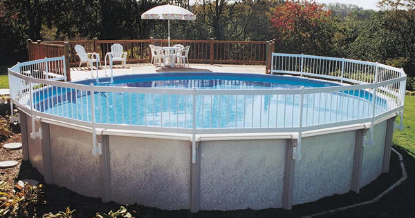 above ground pool with fence